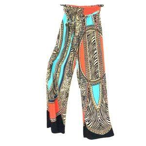 Forever 21 Wide Leg Pattern Pants